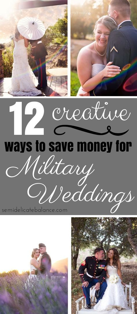 12 Creative Ways to Save Money on a Military Wedding