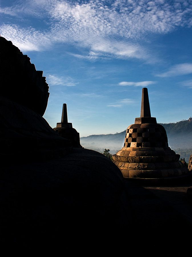 Borobudur Stupa, Central Java, Indonesia.