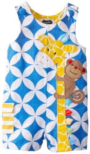 Mud Pie Baby Boys Infant Giraffe Shortall  Multi  12 18 Months Mud Pie http   www amazon com dp B00I0QG1EU ref cm_sw_r_pi_dp_2cncub18MZC2C
