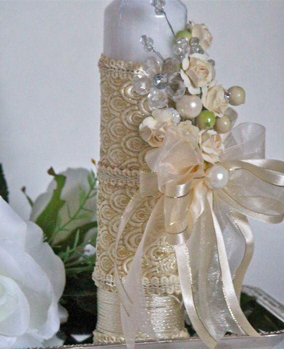 Christening Candle Ceremony Candle First Holy por CeremonyDeluxe
