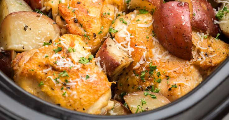 The Slow Cooker Garlic-Parmesan Chicken That's Taking Over Pinterest