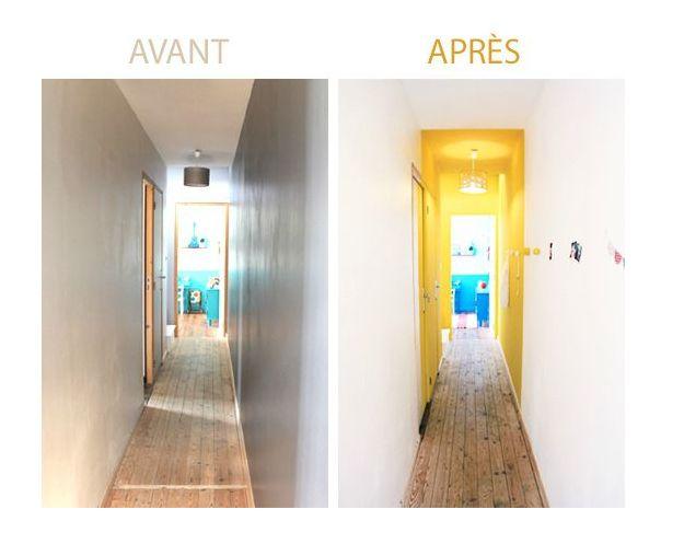 Relooking d 39 un couloir interminable d coration d - Decoration interieur couloir ...