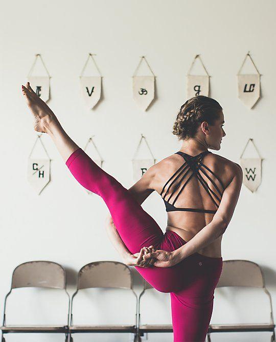 a bound, balancing, hip opening, shoulder opening pose