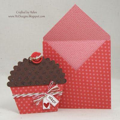 H2 Designs Cupcake using Scallop Circle punch