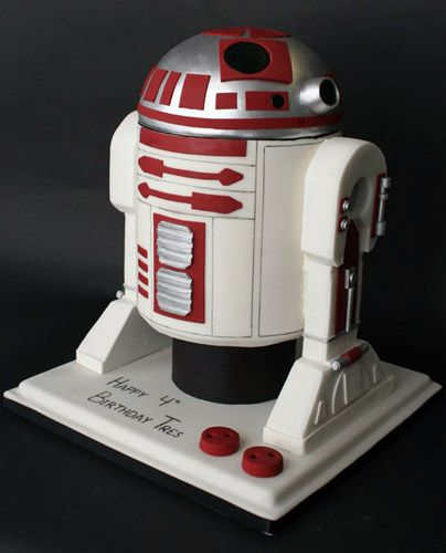 Great Tutorial on R2 D2 cake.