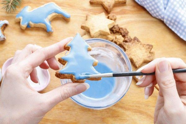 Новогоднее печенье с сахарной глазурью