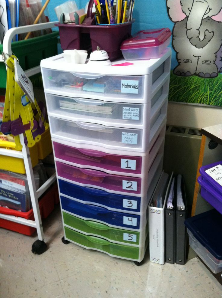Guided Reading Organization Materials Drawer Word Study