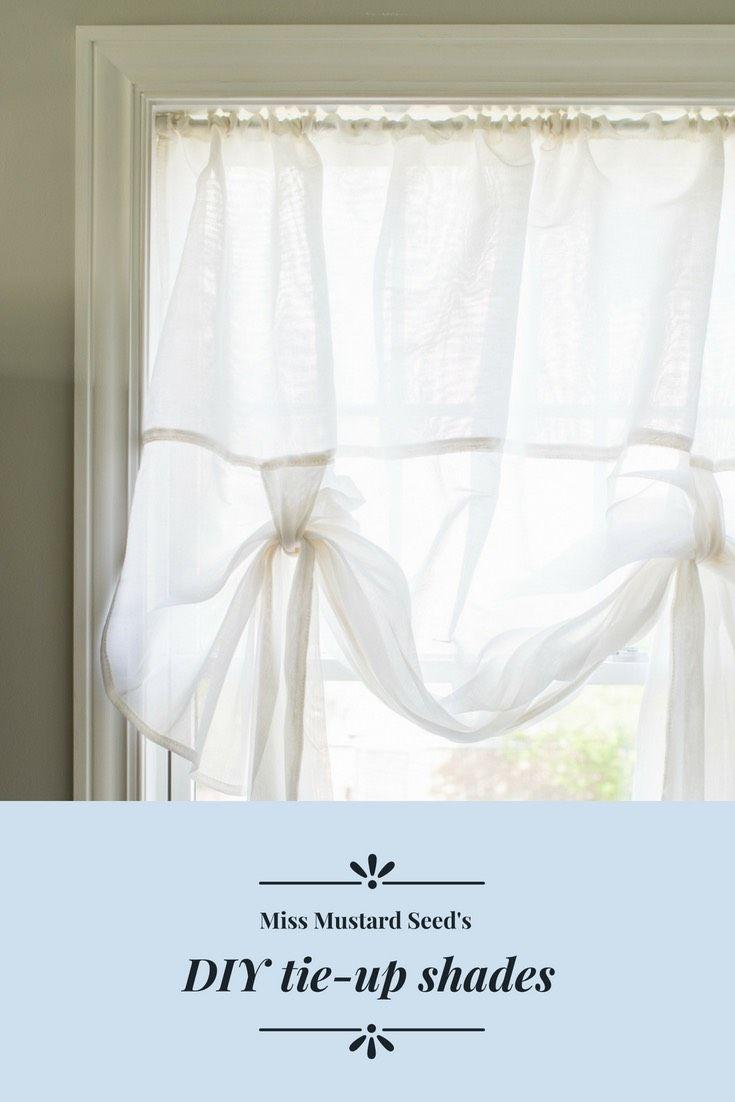 Diy Ready Made Tie Up Shades Tie Up Shades Curtains No Sew