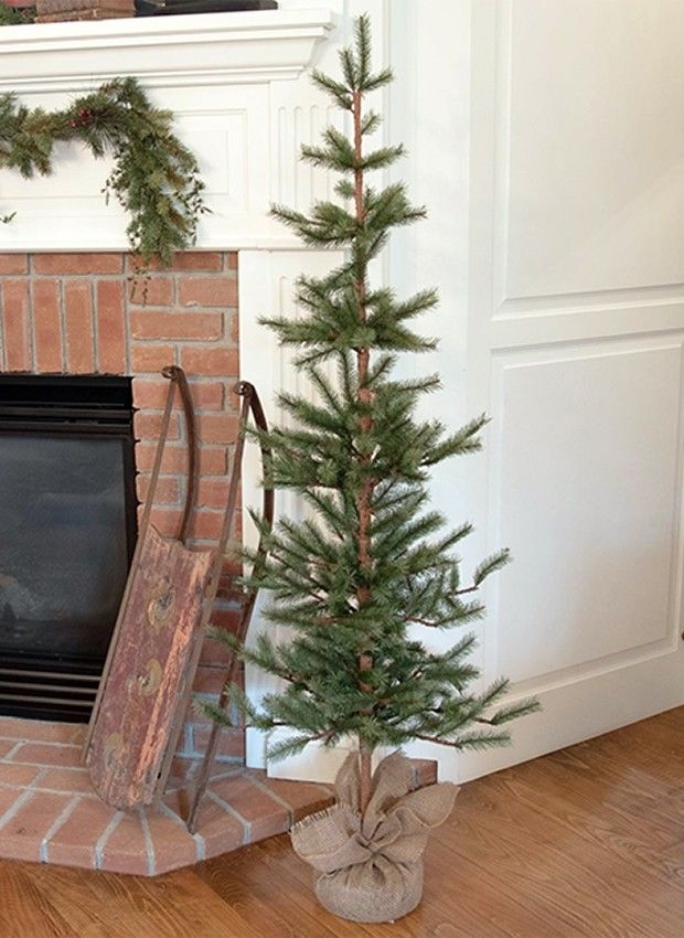 Skinny Pine Tree Decor Tree Decor Decor Farmhouse Style Decorating