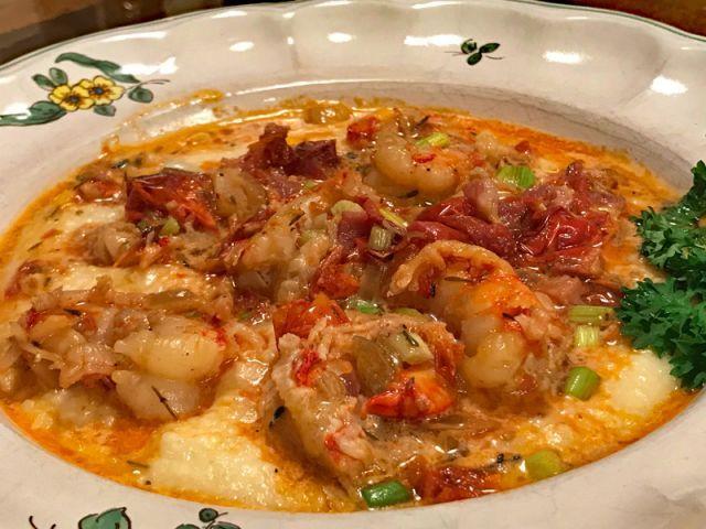 Ellen's Kitchen & Garden - Shrimp and grits becomes a favorite dinner