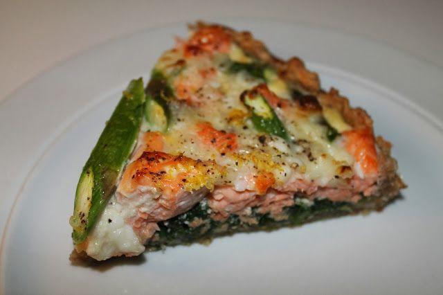 Anna-Mad: Laksetærte med spinat og asparges