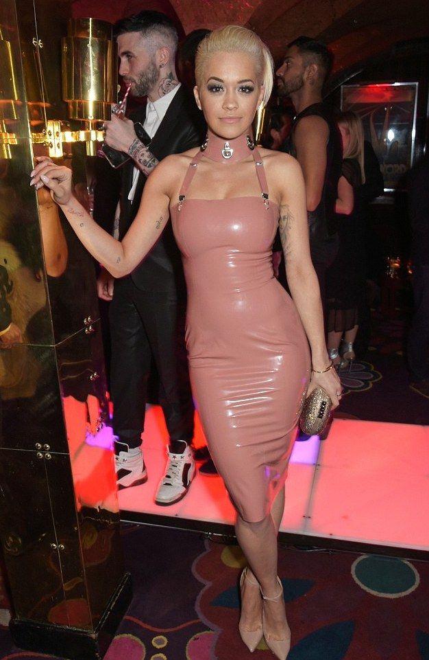 4 Rita Ora vs. Kim Kardahian in Atusko Kudo's Pink Latex Dress