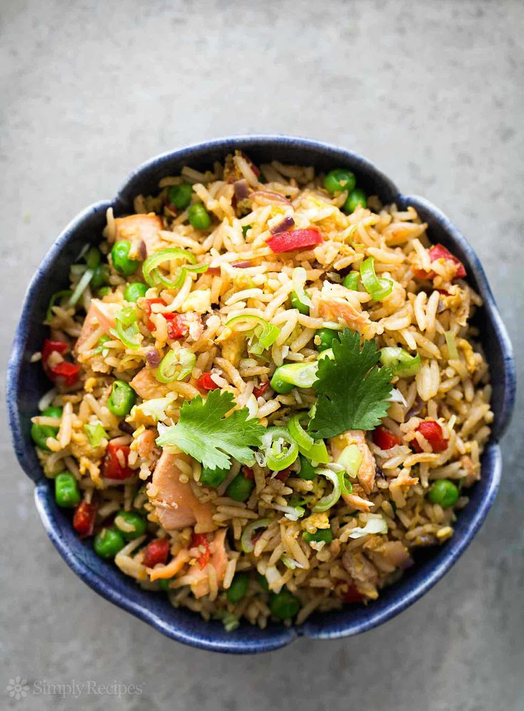 Salmon Fried Rice | Simply Recipes on foodiecrush.com