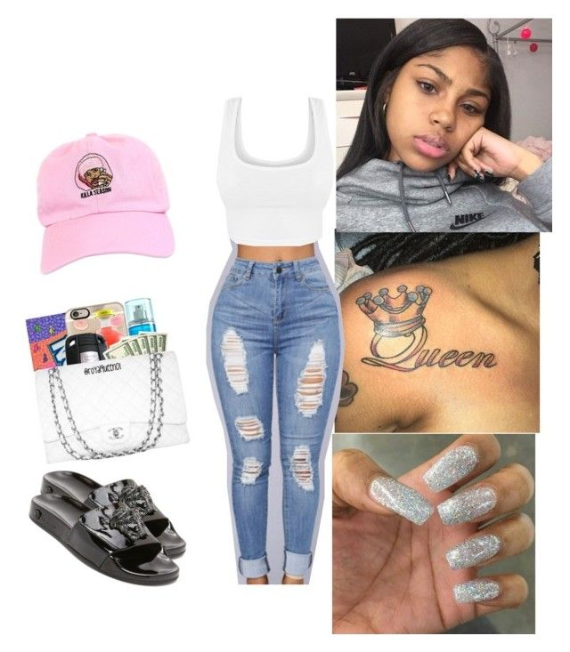 """""""While we're young 👣"""" by itskiahm ❤ liked on Polyvore featuring Entree Lifestyle and Versace"""