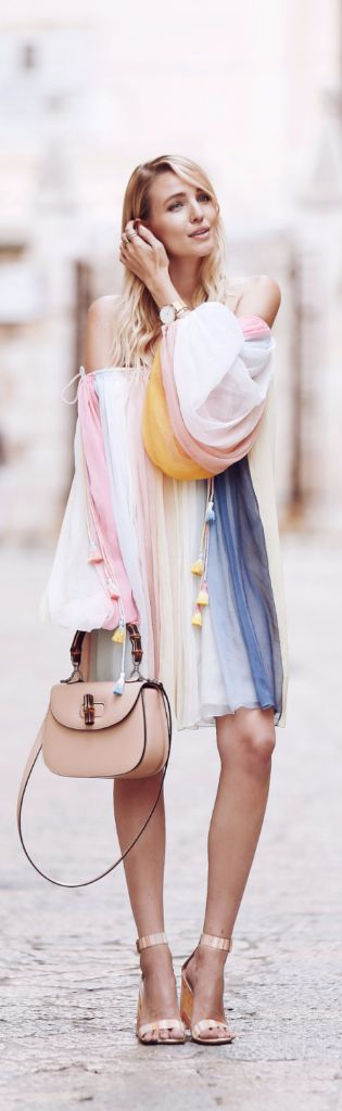 Chloe Rainbow Dress // Fashion Look by Ohh Couture