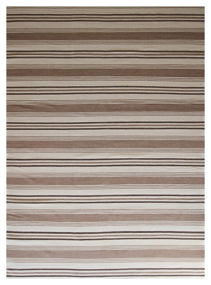 Kelim - brown stripe #1513 3.00 x 2.50m Composition Wool on Cotton Hand-woven Flat pile Was R 16 500 -50 % Now R8 250