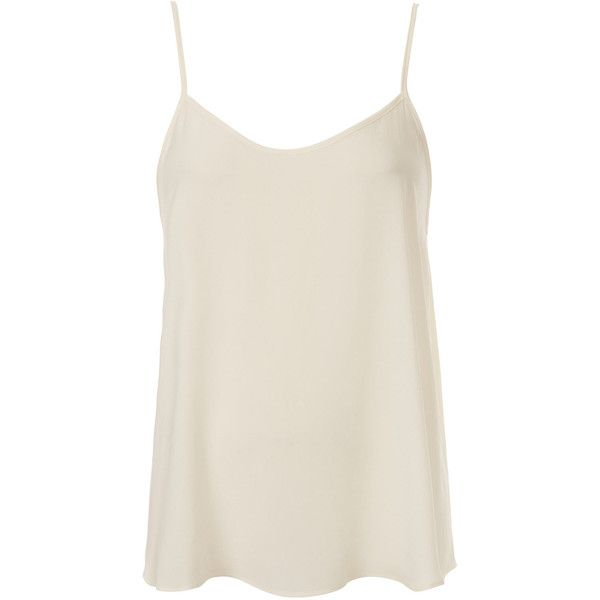 TOPSHOP Soft Cami ($36) ❤ liked on Polyvore featuring tops, shirts, tank tops, tanks, blusas, cream, topshop shirt, shirts & tops, topshop and cami tank tops