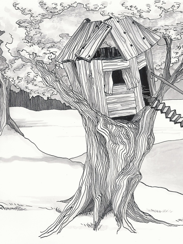 Mansion Drawing: 75 Best Treehouse Art Images On Pinterest