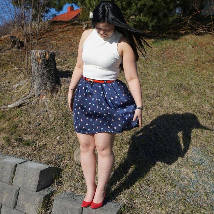 Snow whit and trusty skirt (chardon skirt from Deer and Doe)