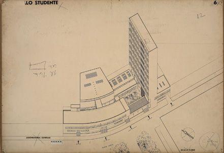 03 - Cattaneo - Casa Studente 01 - assonometria