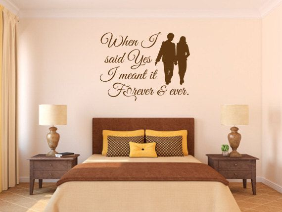 bedroom wall decals. when i said yes - code 078 quotes decals, wall