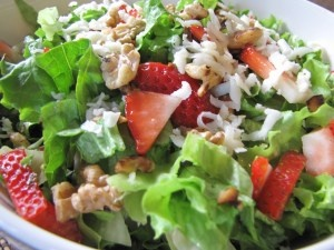strawberry and walnut salad... think I know whats for lunch