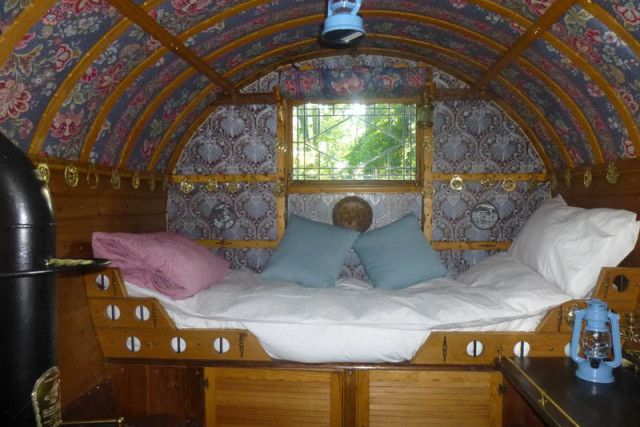 Image result for gypsy caravan bowtop interiors