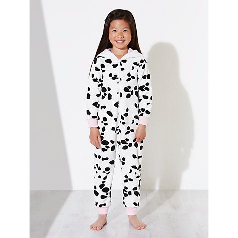 Buy John Lewis Children's All-Over Dalmatian Print Onesie, White Online at johnlewis.com