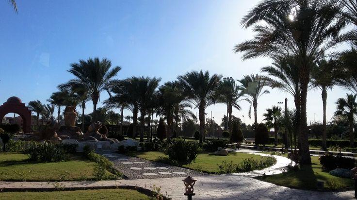schöner Palmengarten eines Hotels, Foto: S. Hopp