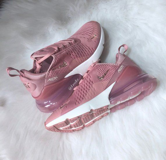 Image of Nike Air Max 270 Rust Pink Metallic Red Bronze Sail with SWAROVSKI®  Xirius Rose-Cut Crystals. f5b36f2e25