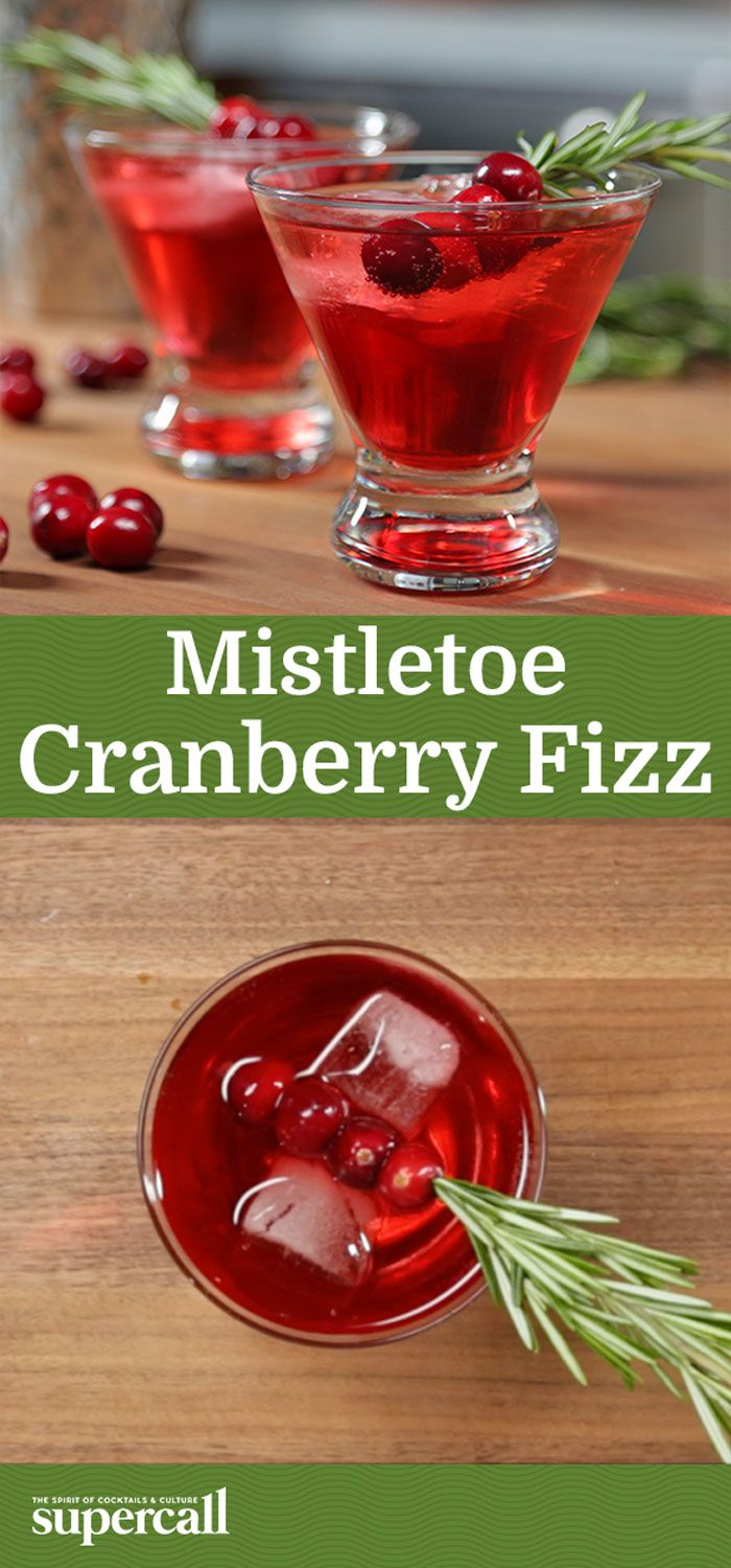 The rosemary syrup that infuses this colorful, holiday party-appropriate Fizz with an herbaceous, seasonal scent. Garnished with fresh cranberries skewered on a rosemary sprig, this drink is full of festive spirit (in more ways than one).