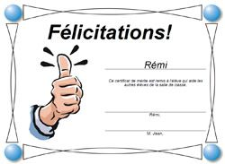 Générateur de diplôme simple et rapide avec Certificat Bravo