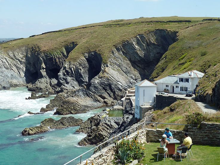 One of the views from Lewinnick Lodge, Newquay, Cornwall. They do a fantastic cream tea!