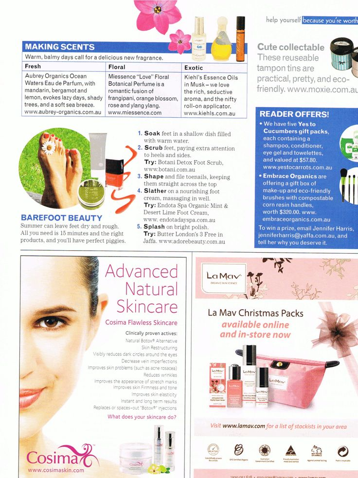 #Miessence Botantical 'Love' Perfume was featured in Nature & Health Magazine Summer 2012 edition