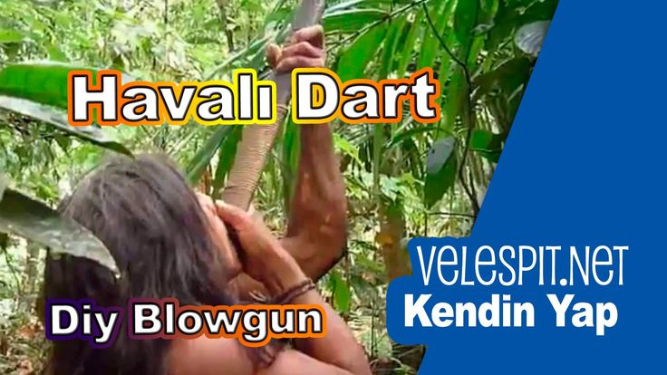 Kendin Yap Havalı Dart (Tüftüf) Silahı | Avlanmak için Sessiz ve Etkili