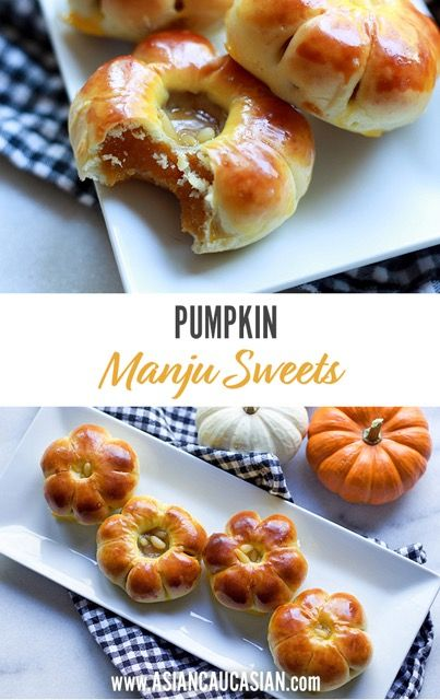 Pumpkin Manju Sweets #pumpkin #sweets #desserts