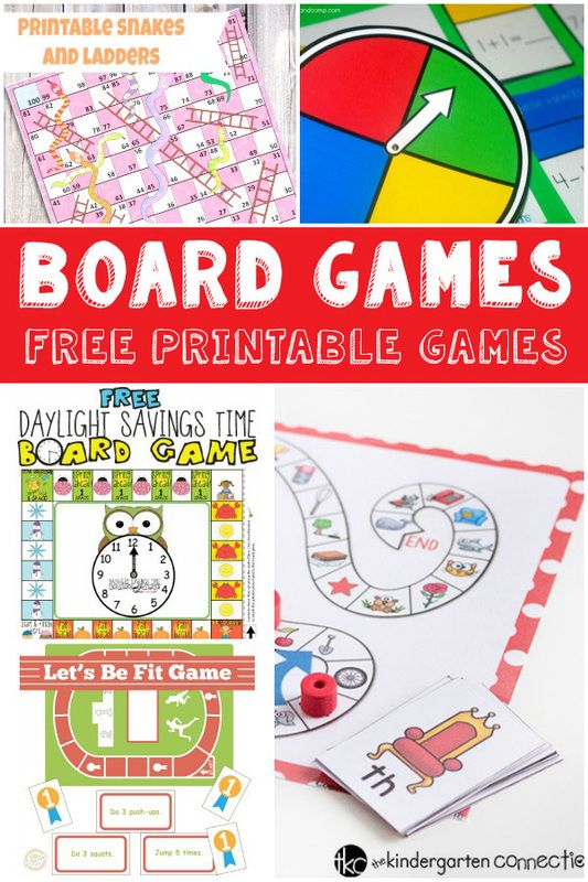 Fun and Free Printable Board Games