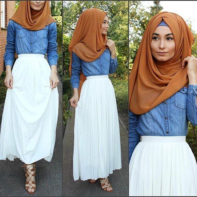 Skirt / Rock / Etek - www.misselegance.de Shirt / Hemd / Gömlek - H&M Hijab / Kopftuch / Basörtü - Hijab 209 im Online Shop Shoes / Schuhe / Ayakkabilar - JustFab