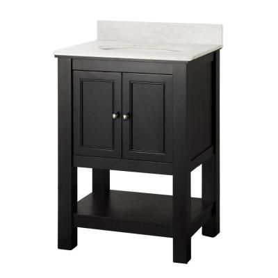 Foremost Gazette 25 in. W x 22 in. D Vanity in Espresso with Marble Vanity Top in Carrara-GAEACA2522 at The Home Depot $479