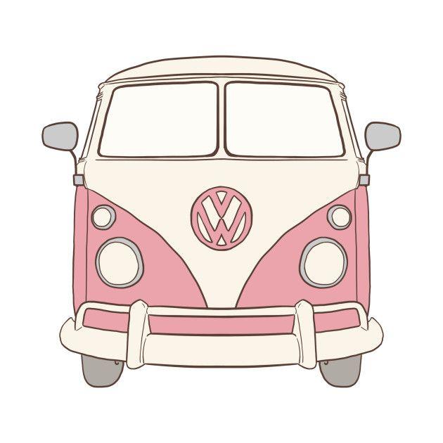 vw bus  pinklittlemoondance  autos malen selber