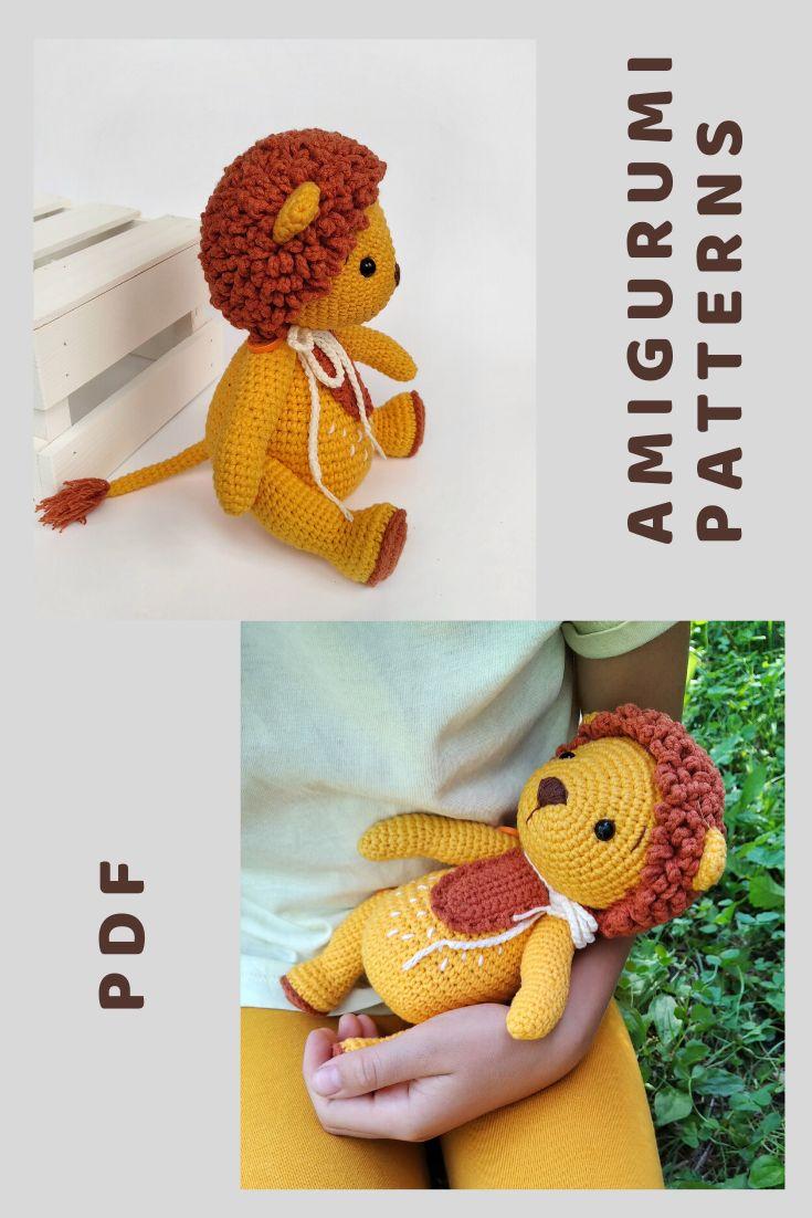 Amigurumi Lion crochet pattern toy PDF Lion toy tutorial ...