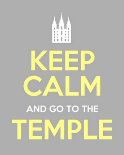 I am going to the temple twice a month as long as I live close enough to do so.