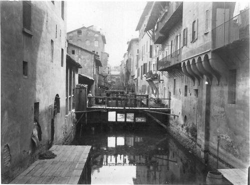 Bologna Città della Seta: Canale delle Moline - Anonimo Fotografo (1910-1920)