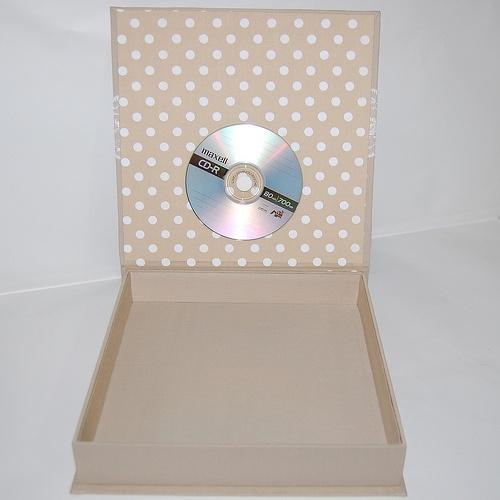 Caixa para Book Fotografico parte interna