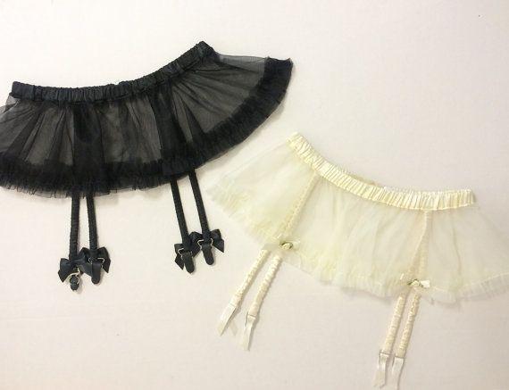 Black Garter Belt Tutu