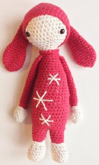 Mini Lalylala inspired rabbit Free pattern (danish language)