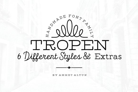 Tropen Font Family-50%off by aatype on Creative Market