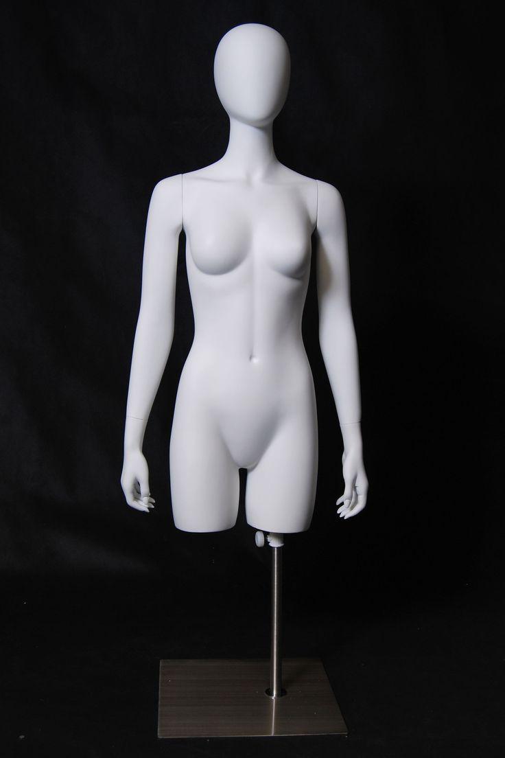 Female Torso with Head -- Matte White