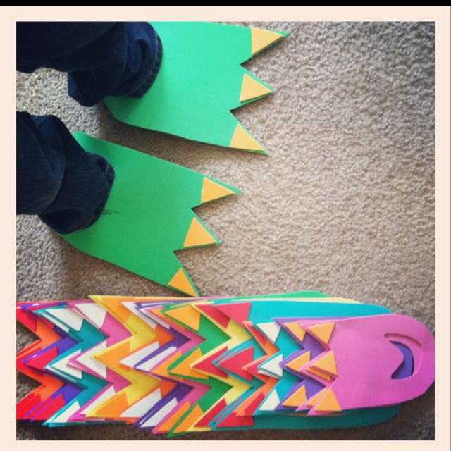KIDS - DINO - DIY dinosaur feet