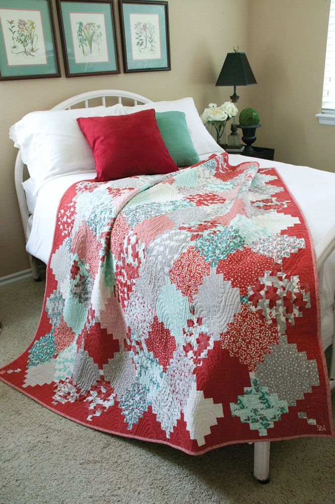 Designed by TAMMY VONDERSCHMITT Machine Quilted by MAGGI HONEYMAN This traditional Courthouse Steps quilt design in a Chinese Lanterns arrangement is a cheerful addition to your holiday décor or gift making. The Holiday Lanterns lap quilt pattern requires careful fabric placement, but the sewing is simple. Use a quilt coloring sheet (free download below), a …